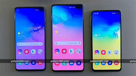 Samsung Galaxy S10 And S10e by Samsung Galaxy S10 Vs Galaxy S10 Vs Galaxy S10e Price Specifications Compared Ndtv