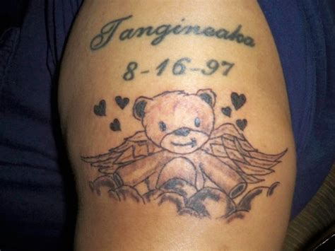 angel bear tattoo designs teddy tattoos designs ideas and meaning tattoos