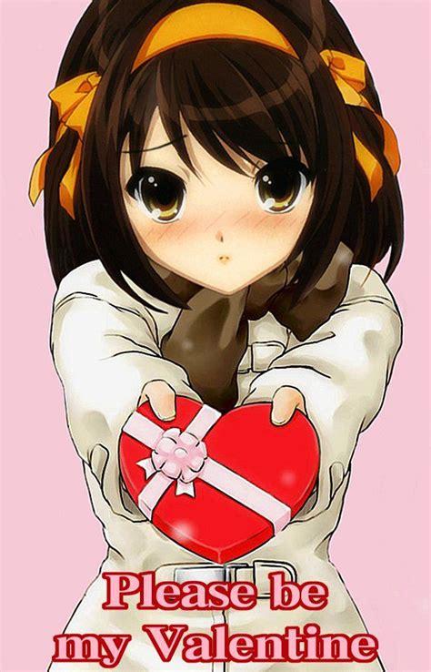 Anime Girl Day Anime Valentine S Day Feliz Dia Dos Namorados Para Quem