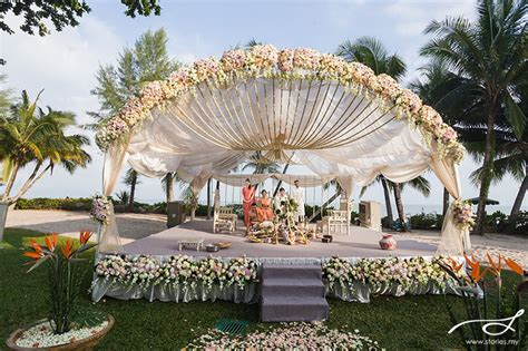 garden decoration malaysia garden hindu wedding rasa sayang penang david nandini