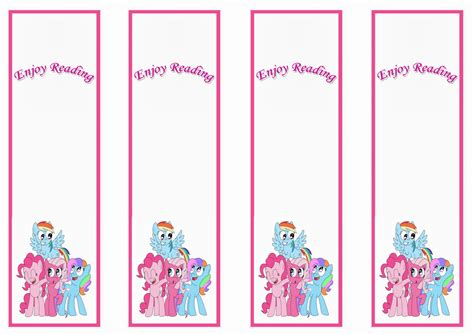 printable name bookmarks my little pony bookmarks birthday printable