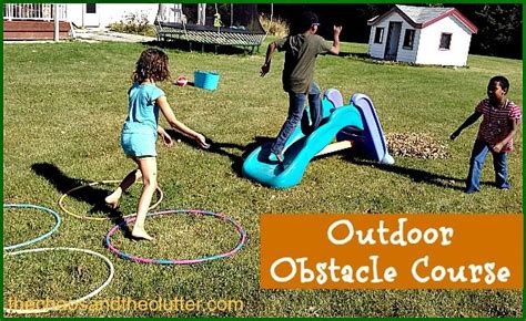Backyard Fun Ideas For Kids Outdoor Fall Obstacle Course