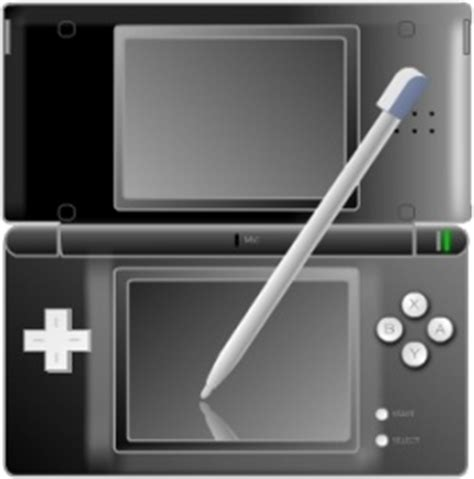 format video nintendo ds nintendo ds with pen black free icon in format for free