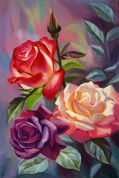 pretty painted floors with flower designs pretty multi colored rose painting paintings