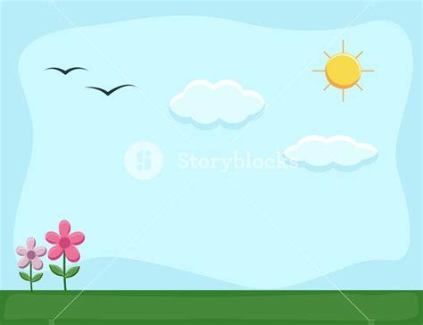 background design cartoon nature landscape cartoon background vector royalty free