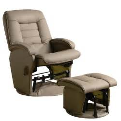 Glider With Ottoman Coaster Recliners With Ottomans Glider Chair With Ottoman In Vinyl 600166