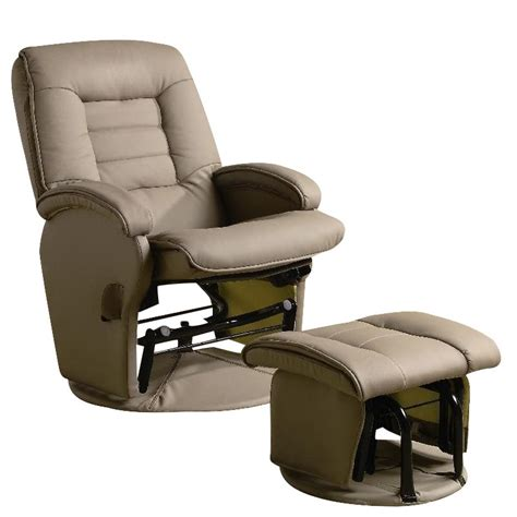 Glider Recliner Ottoman Coaster Recliners With Ottomans Glider Chair With Ottoman In Vinyl 600166