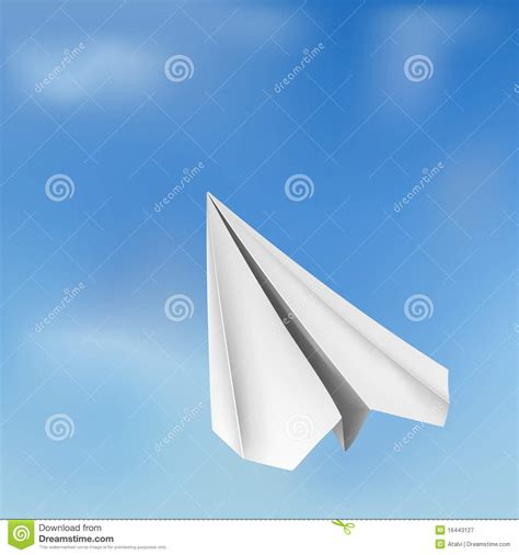 Origami Flying Plane - vector origami flying airplane royalty free stock