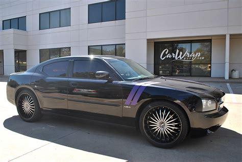 purple charger car matte purple charger stripes car wrap city