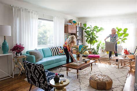 design my livingroom a colorful mid century home honeysuckle
