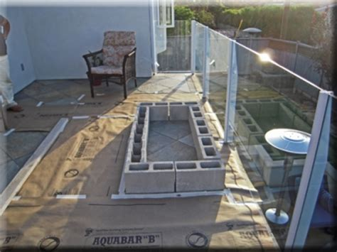 Enrique Castro Custom Balcony Fire Pit With Fireglass How To Build A Glass Pit