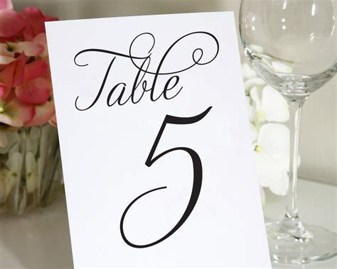 7 best images of wedding table numbers printable 4x6