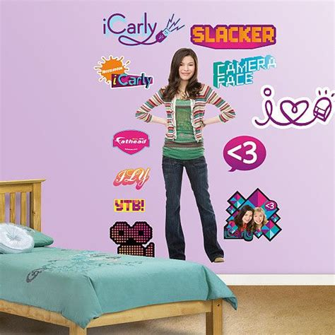 Icarly Bedroom Giveaway - nickelodeon icarly wall decal vinyls icarly and flats