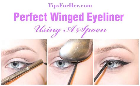 eyeliner tutorial spoon winged eyeliner spoon trick create the perfect winged