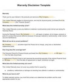 Disclaimer Template Uk by Warranty Disclaimer Sle Template Disclaimkit