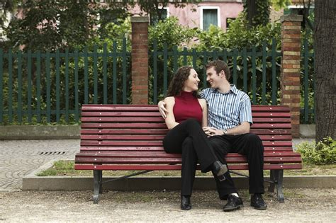 couple on park bench romance report