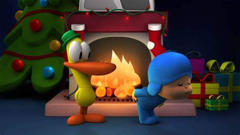 pocoyo wishes  merry christmas   happy  year yuge log youtube