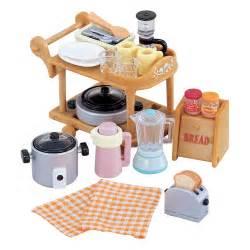 sylvanian families kitchen cookware amp trolley set 163 6 00