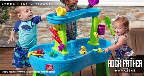 step2 showers splash pond water table summer toys giveaway step2 showers splash pond water