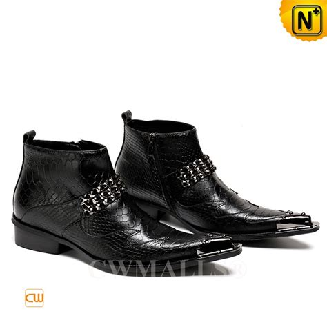 cwmalls 174 mens black leather ankle boots cw707217