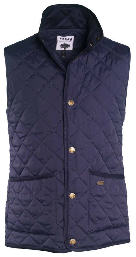 Mens Quilted Gilets by Toggi Tiverton Mens Classic Quilted Gilet Equus