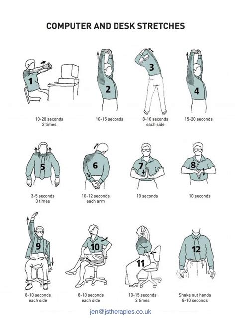 Office Desk Stretches Computer And Desk Stretches Fitness And Health Pinterest Stretches And Chair