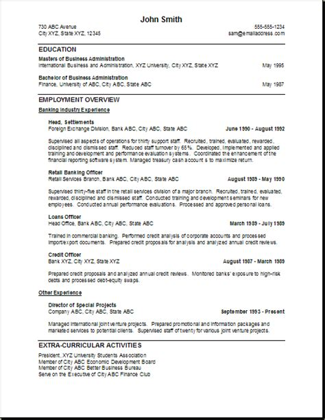 Resume Profile Exles Banking Resume Personal Banker Resume Description