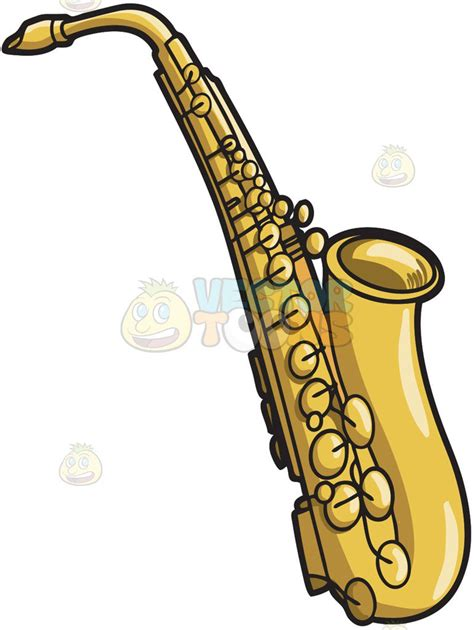 saxophone clip a musical instrument called the saxophone clipart