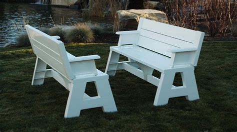 convertible picnic table bench convertible bench picnic table plans image mag
