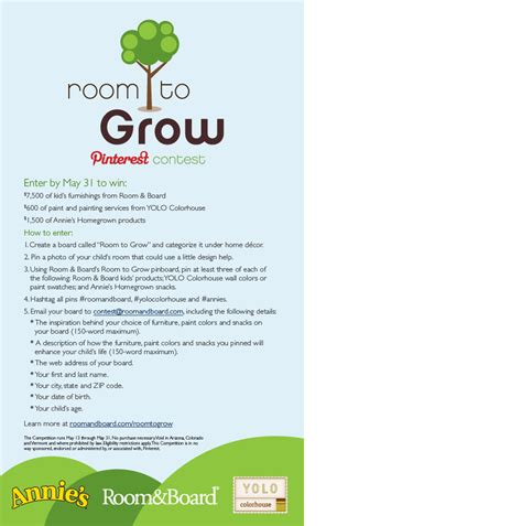 Room To Grow by 7500 Room Makeover Contest Sponspored By Roomandboard