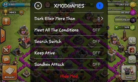 cara kerja xmodgame coc cheat gold elixir clash of clans terbaru android dan ios