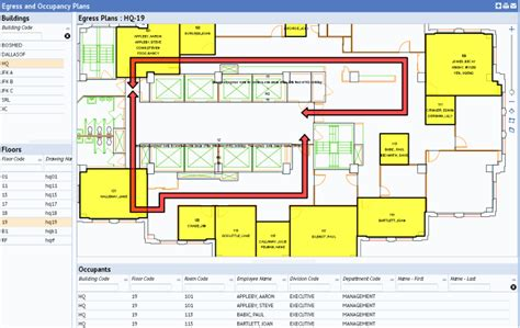 Emergency Room Floor Plan Egress And Occupancy Plan