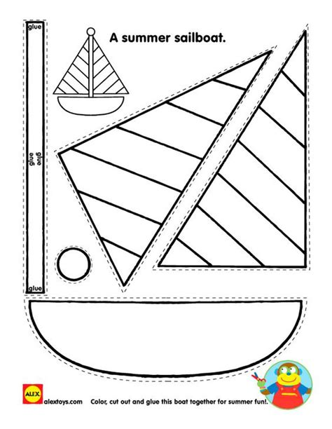 kindergarten pattern craft crafts activities and sailboats on pinterest