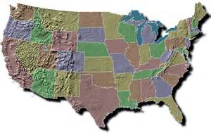 United States Map Landforms by Gallery For Gt Southeast Region Landforms Map