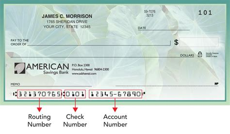 American Background Check Routing Number American Savings Bank Hawaii