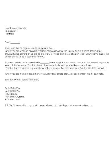 real estate prospecting letter templates