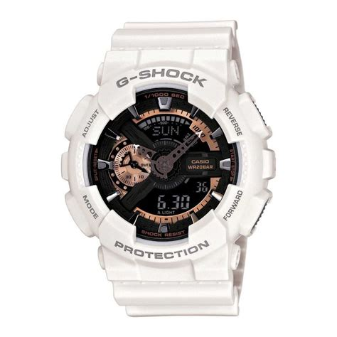 Jam Tangan G Shock Warna Putih casio new g shock ga 110rg 7a white gold original diver ga 110 79767969691 ebay