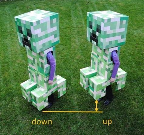 Papercraft For Sale - telescoping minecraft creeper costume