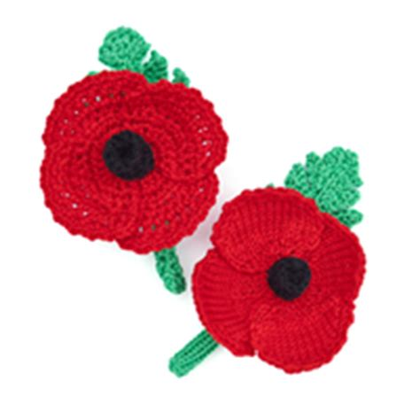 knitting pattern red poppy how to make a knitted or crochet poppy wreath