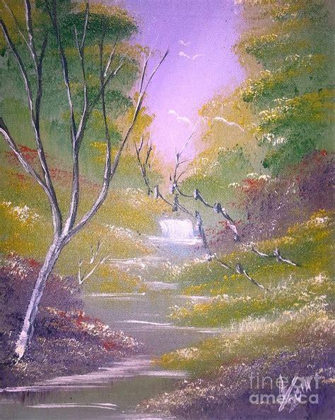 Vibrant Landscape Pictures Light Vibrant Landscape Painting By Collin A Clarke