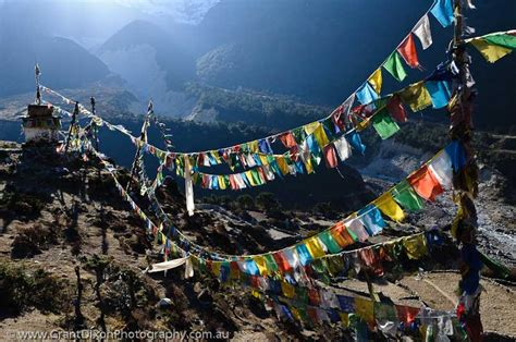 scottish theme event in nepal entertainment the pangboche prayer flags image by australian photographer