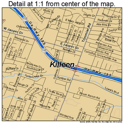 map of killeen texas and surrounding areas killeen texas map 4839148