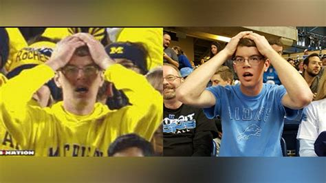 u of m fan stunned michigan fan also a lions fan ncaa football