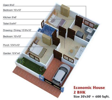 600 sq ft house plans 2 bedroom apartment plans