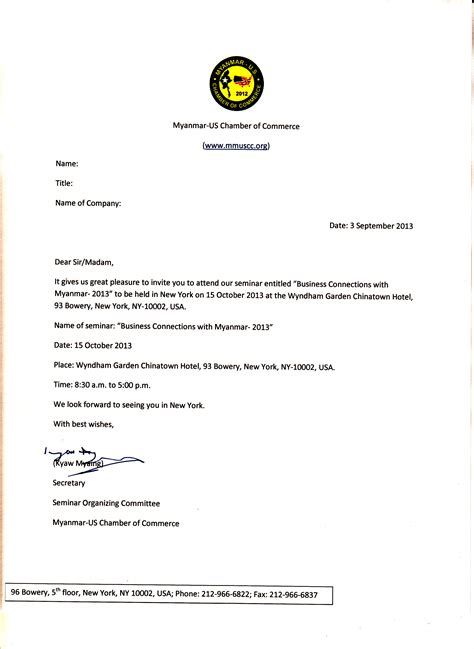 Response To Conference Invitation Letter Sle Invitation Letters Writing Professional Letters