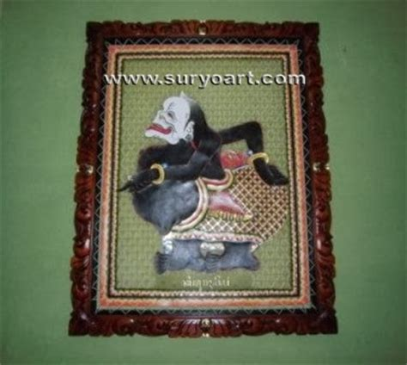Frame Wayang Semar By Carisouvenir jual wayang kulit java handicrafts suryoart hiasan