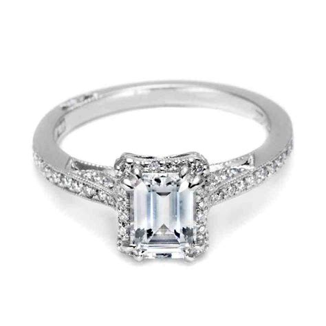 emerald cut platinum engagement rings wedding and bridal