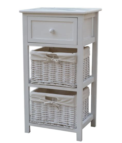 Wooden Storage Tower With Drawers by Charles Bentley Wooden Storage Tower W Wicker Baskets