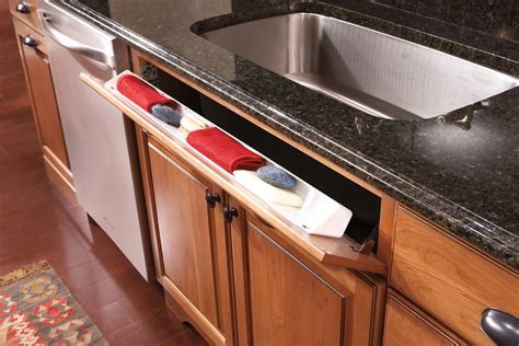 kitchen sink cabinet tray new initiatives from merillat show homeowners how to