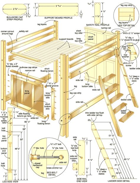 loft bed plans bunk bed plans woodwork city free woodworking plans